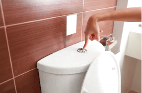 toilet flush system faulty